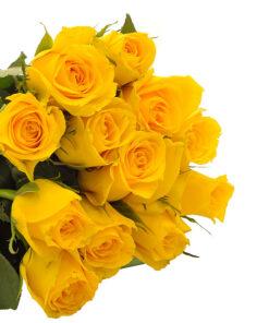 Šopek rumenih vrtnic