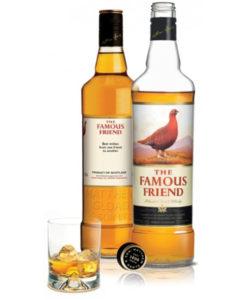 Viski Famous Grouse z osebno nalepko