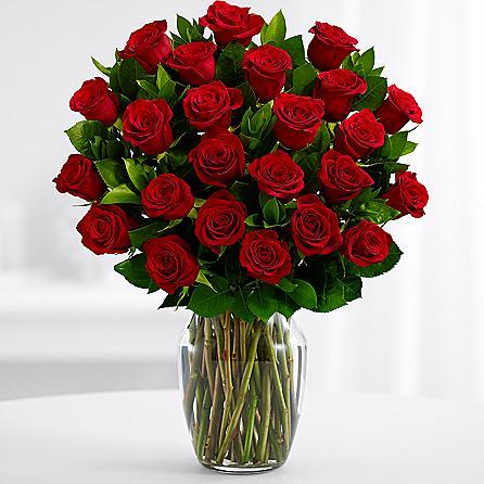 Velik šopek rdečih vrtnic
