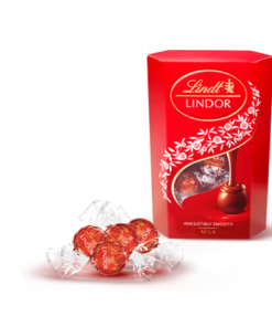 Lindor chocolate balls in red box