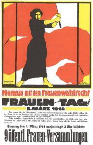 dan žena leta 1914 ko so se ženske borile za volilne pravico v nemčiji