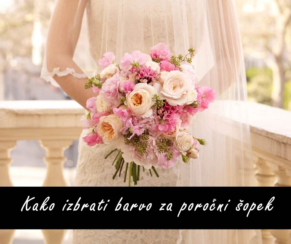 kako izbrati barvo za poročni šopek