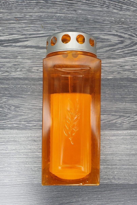 Nagrobna sveča_oranžna_1